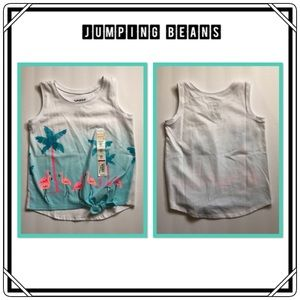 🆕 Jumping Beans Flamingo Knot Front Tank